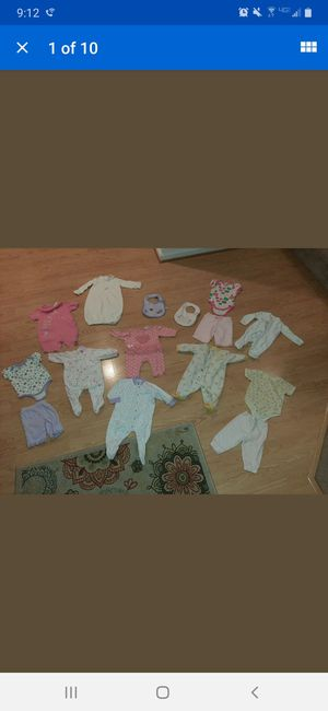 New born baby girl clothes lot 0 3 for Sale in Chesapeake, VA