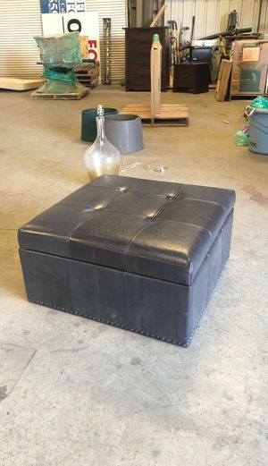 Leather coffee table ottoman for Sale in Fresno, CA