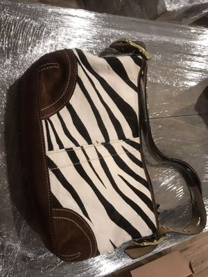 Coach fur purse- zebra print for Sale in Tacoma, WA