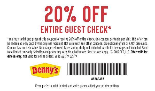 Dennys coupon