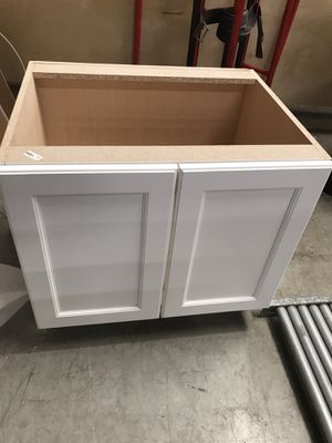 White cabinet with shelves brand new for Sale in Raleigh, NC