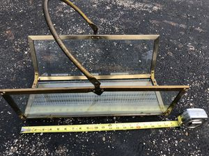 Brass and Glass Magazine Rack. for Sale in Canal Winchester, OH