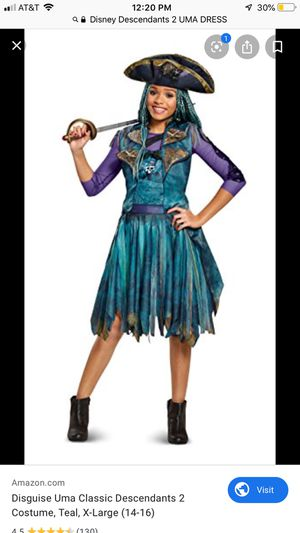 Evie Classic Isle Look Disney Descendants 2 Fancy Dress Halloween Costume S 4-6 for Sale in Apopka, FL