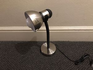 Chrome Nickel Work/Desk Lamp with new bulb for Sale in San Francisco, CA