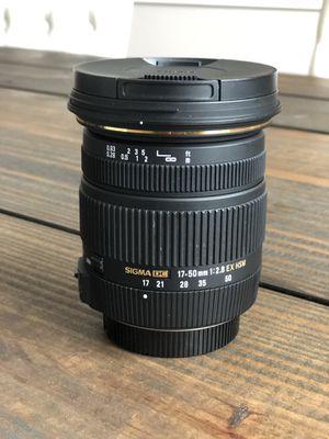Sigma 17-50 f/2.8 (Nikon F mount) for Sale in Clayton, NC