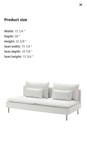 Two white ikea soderhamn couches for Sale in Portland, OR