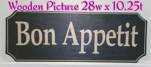 Bon Appetit Wooden Picture Wall Decor for Sale in Bolingbrook, IL
