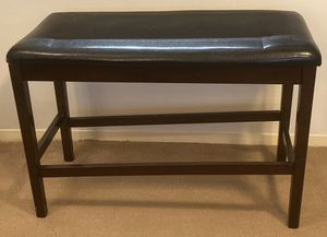 FAUX LEATHER WIDE ENTRYWAY ACCENT BENCH STOOL for Sale in Raleigh, NC
