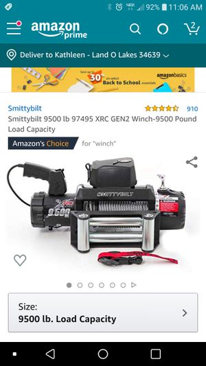 Smittybilt 9500lb winch for Sale in Land O' Lakes, FL