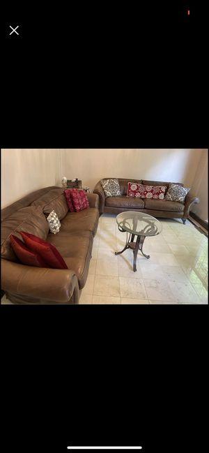 2 extra large genuine leather sofas for Sale in Woodbridge, VA