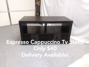 Espresso Cappuccino Television Tv Media Entertainment Stand w/ 2 Drawers for Sale in Peoria, AZ