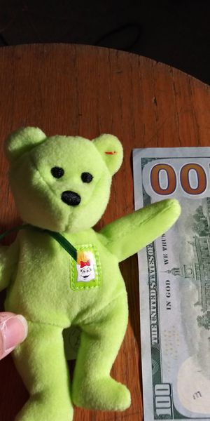 Rare Lime Green Beanie Baby from 2004 Get him now for $100 for Sale in Miami, FL
