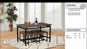 Table and four stools for Sale in Chicago, IL
