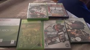 6 xbox 360 games and connect sensor for Sale in Columbus, OH