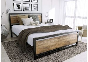 BRAND NEW QUEEN SIZE WOOD BED FRAME for Sale in Rockville, MD