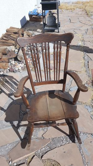 Very antique wooden rocking chair with a little work this is priceless 20 doll for Sale in Spring Valley, NV