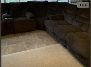 Sectional Sofa with 4 Electric Recliners, 2 USB, 2 Drink Holders, 3 Pieces for Sale in Sioux Falls, SD