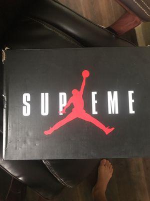 Supreme Jordan size 11 (dead stock) never worn condition 10/10 for Sale in Fairfax, VA