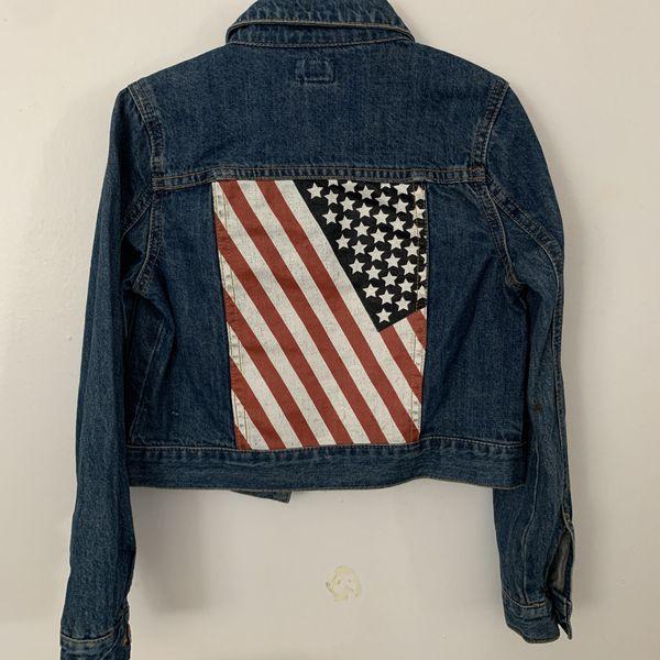 Forever 21 Girls Denim Jacket with American Flag