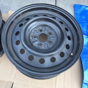 """Toyota Corolla 16"""" Replacement 5x100 PT Cruzier Vibe Black Steel Metal Wheels Rims for Sale in Los Angeles, CA"""