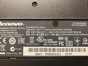 Lenovo thinkPad Pro Dock 40A1 for Sale in San Diego, CA