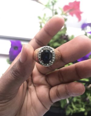 14k Gold Textured Sapphire Ring for Sale in Hartford, CT