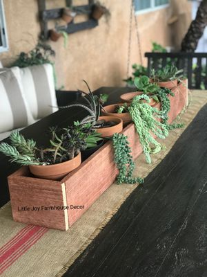 Large Centerpiece Planter Box/Candle Holders for Sale in West Covina, CA