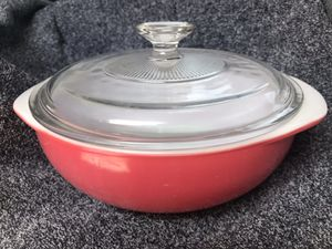 Vintage Pink Pyrex Casserole Bowl with Glass Lid for Sale in La Habra, CA