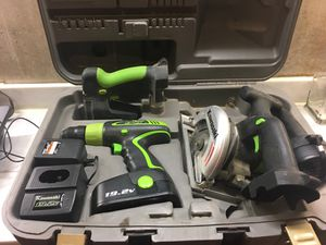 Kawasaki 19.2v Cordless Power Drill & Saws for Sale in Frederick, MD