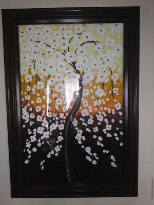 White Cherry blossom three painting for Sale in Stockton, CA