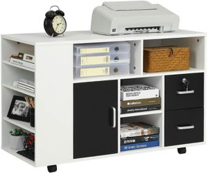 File Cabinet with 2 Drawers and Multiple Storage Shelves for Sale in Los Angeles, CA