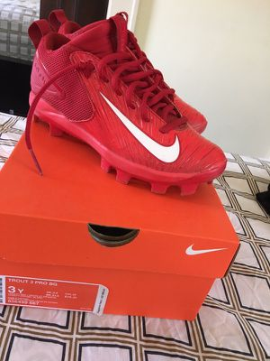 Nike baseball cleats size 3y only worn once LIKE NEW! for Sale in Pittsburgh, PA