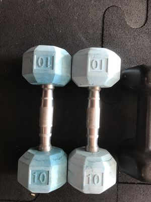 Rubber Dumbbells (2x10s) for $15 Firm!!! for Sale in Burbank, CA