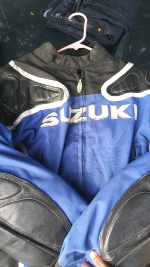 Suzuki motorcycle jacket size large in great shape for Sale in West Covina, CA