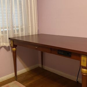 Cherry Desk With Center Draw And Electric for Sale in Brockton, MA