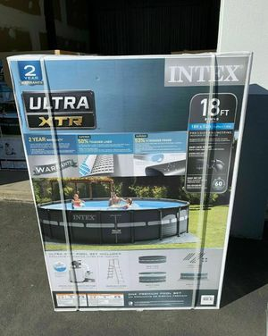 Intex Ultra XTR 18 ft x 52 in premium pool with pump & filter for Sale in Houston, TX