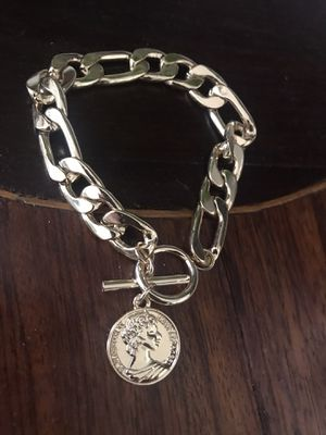 14 k gold plated heavy bracelet for Sale in Las Vegas, NV
