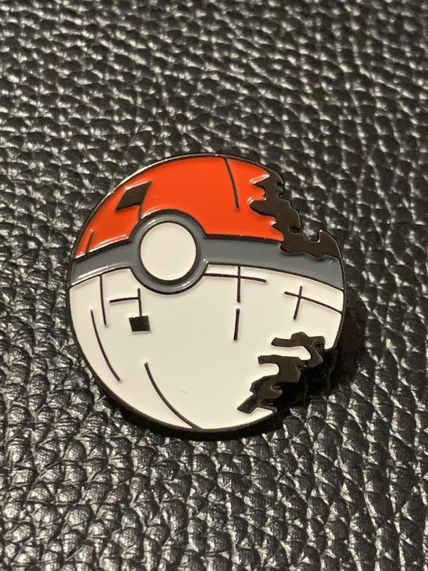 Pokemon Poke Ball Death Star Enamel Pin Star Wars Pokémon