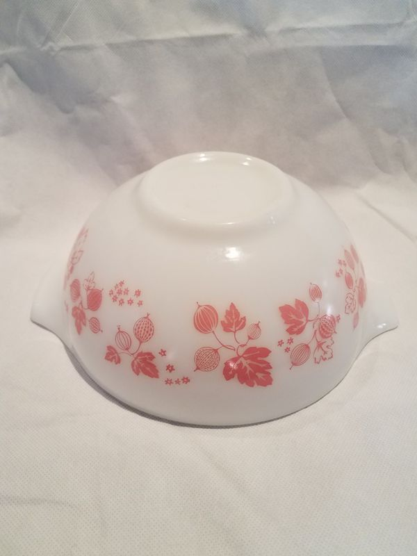 Vintage Pink and White PYREX