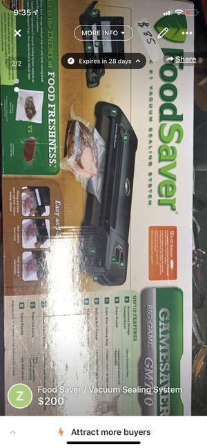 Food Saver / Vacuum Seal for Sale in Wichita, KS