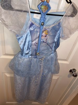Disney Cinderella Dress with wand Halloween costume for Sale in Las Vegas, NV