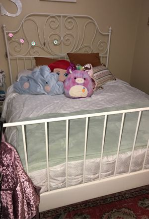 Bed frame, white, Lönset, Queen for Sale in Keizer, OR