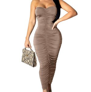 Bodycon strapless rutched dress for Sale in Garden Grove, CA