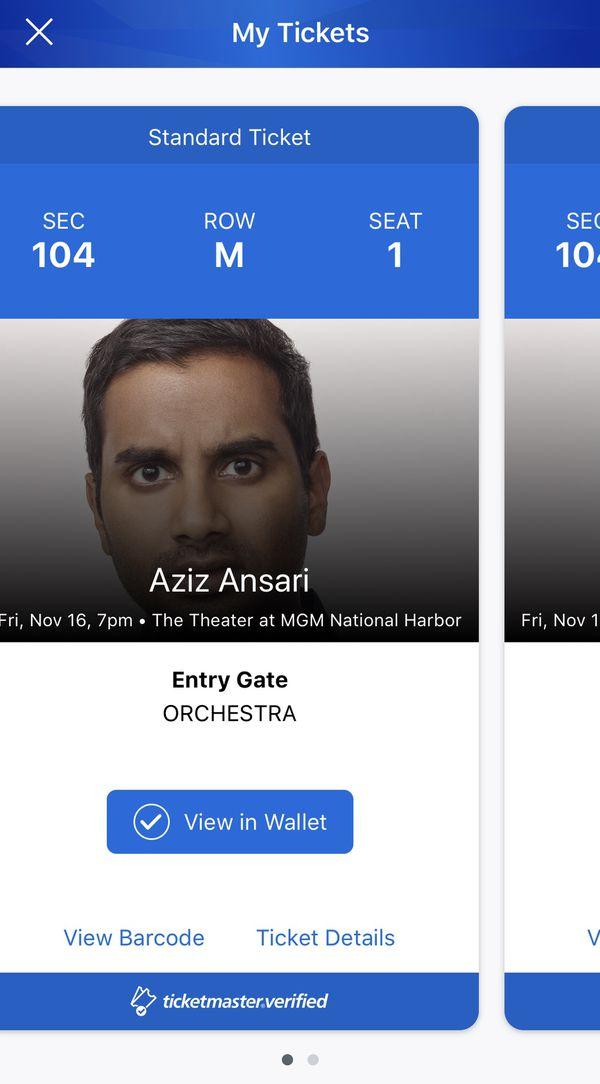 Aziz Ansari - MGM National Harbor 11/16