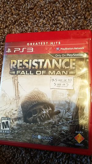Resistance (fall of man) ps3 rated M for Sale in Hampton, IA