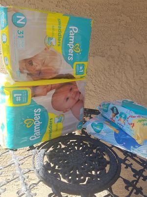 Pampers newborn and size1 for Sale in Maricopa, AZ
