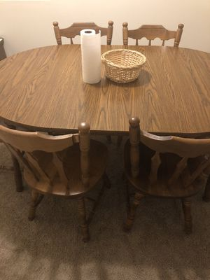 Six wooden chairs and table. for Sale in Manchester, MO
