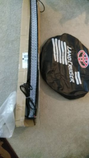 LED light bar off road and tire cover for Sale in Arlington, VA