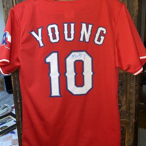 Michael Young Autographed Jersey for Sale in Dallas, TX