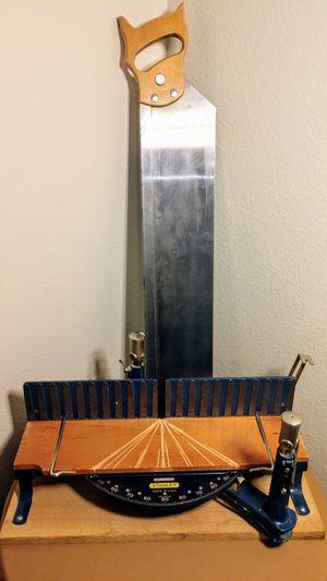 Vintage STANLEY No 2358 Mitre Box & saw. Original and complete for Sale in Sun City, AZ